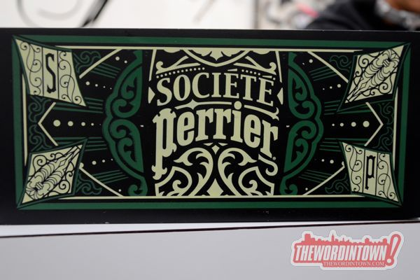 Perrier-word-in-towm