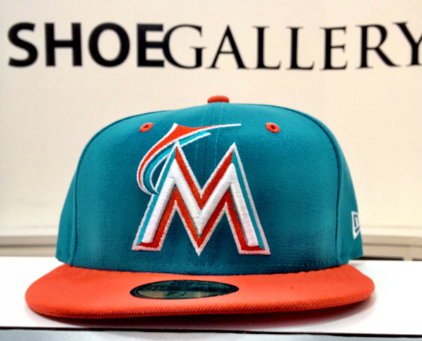 Dolpnins-Miami-Marlins-New-ere-59fifty-baseball-cap-hat-shoe-gallery