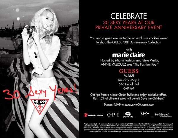 GUESS &amp; Marie Claire - Miami Event-30-sexy-years-guess