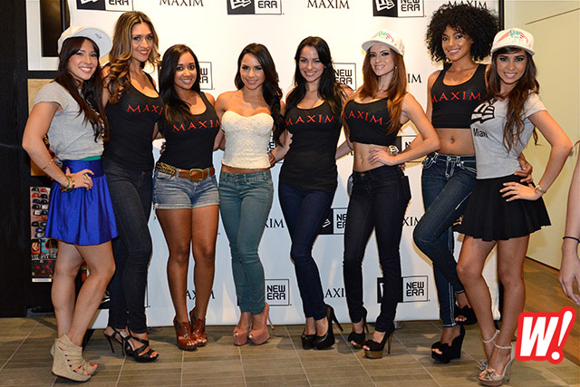 maxim-magazine-girls-new-era-store-miami-beach-Melanie-Tillbrook-Lisa-Morales-Jackeline-Suzanne-hometown-hotties
