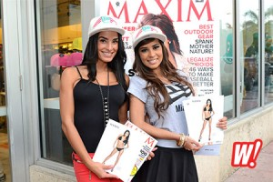 Dayanis-Garcia-Jenny-Olivero-Maxim-Hometown-hotties-in-store-new-era-miami-beach-flagship-store-hats-cap-fitteds-miami