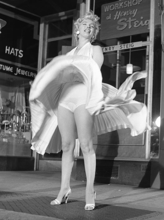 Marilyn-in-White-1954-Bruno-Bernard-exhibit-miami-beach-september-12-photography-hollywood-art-culture-marilyn-monroe