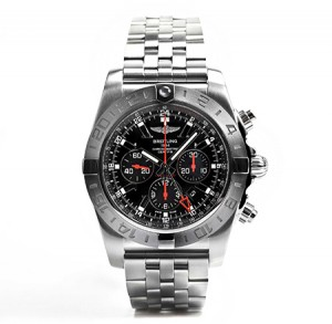 Breitling-chronomat-black-dial-wrist-wear-timepiece-watches-chrono-mens-style