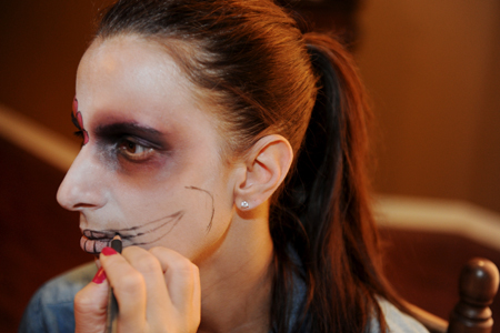 halloween-day of the dead- miami- word in fashion- fashion- betsy johnson- makeup