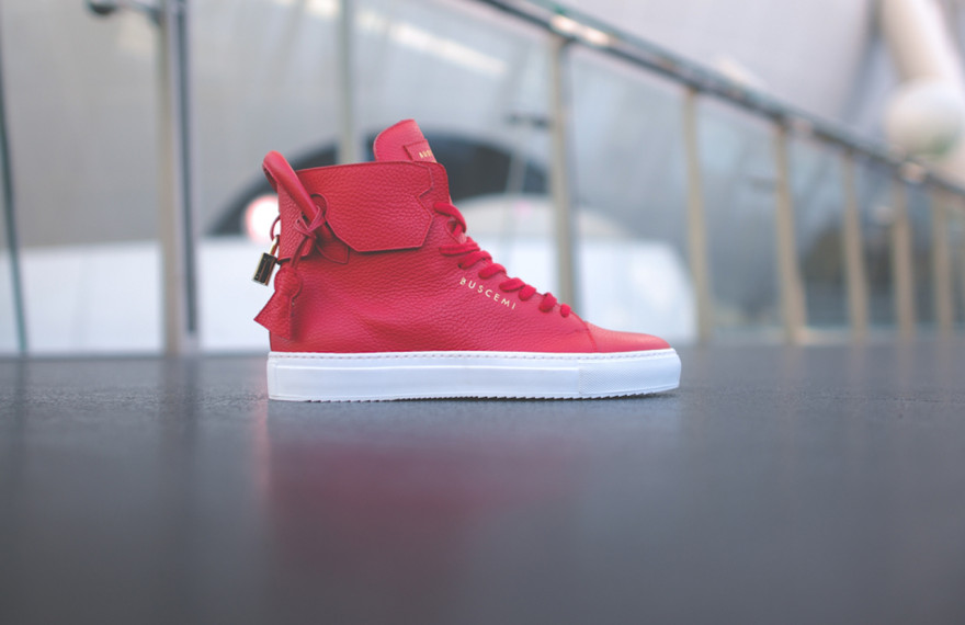 Buscemi-125MM-Red-Hightop-sneaker-luxury-Buscemi-Gourmet-