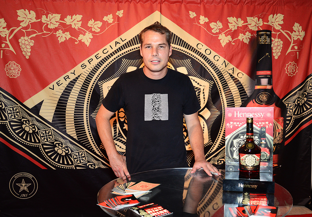 Shepard-fairey-hennessy-vs-signing-miami-limited-edition-art-brisk-gallery-wynwood