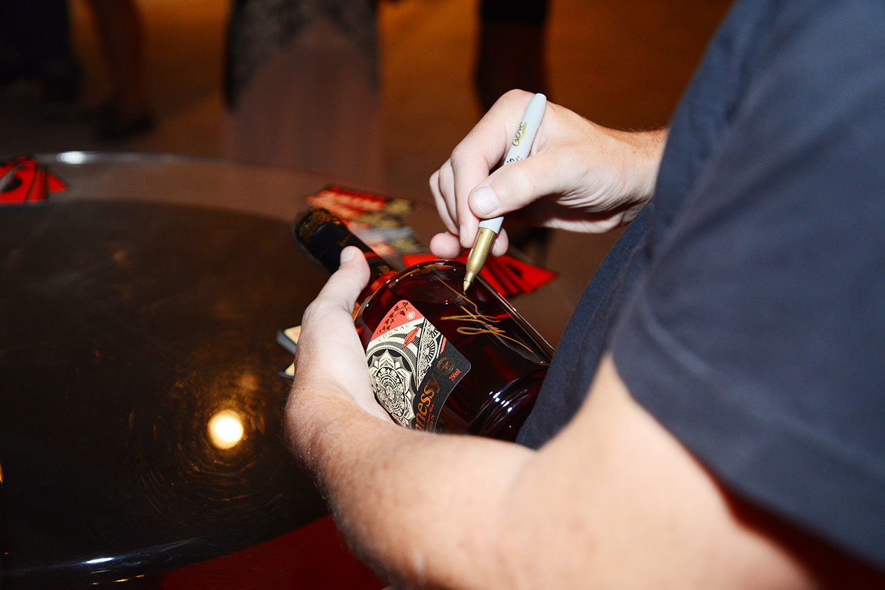 Shepard-fairey-hennessy-vs-signing-miami-limited-edition-art-brisk-gallery-wynwood-artist-obey
