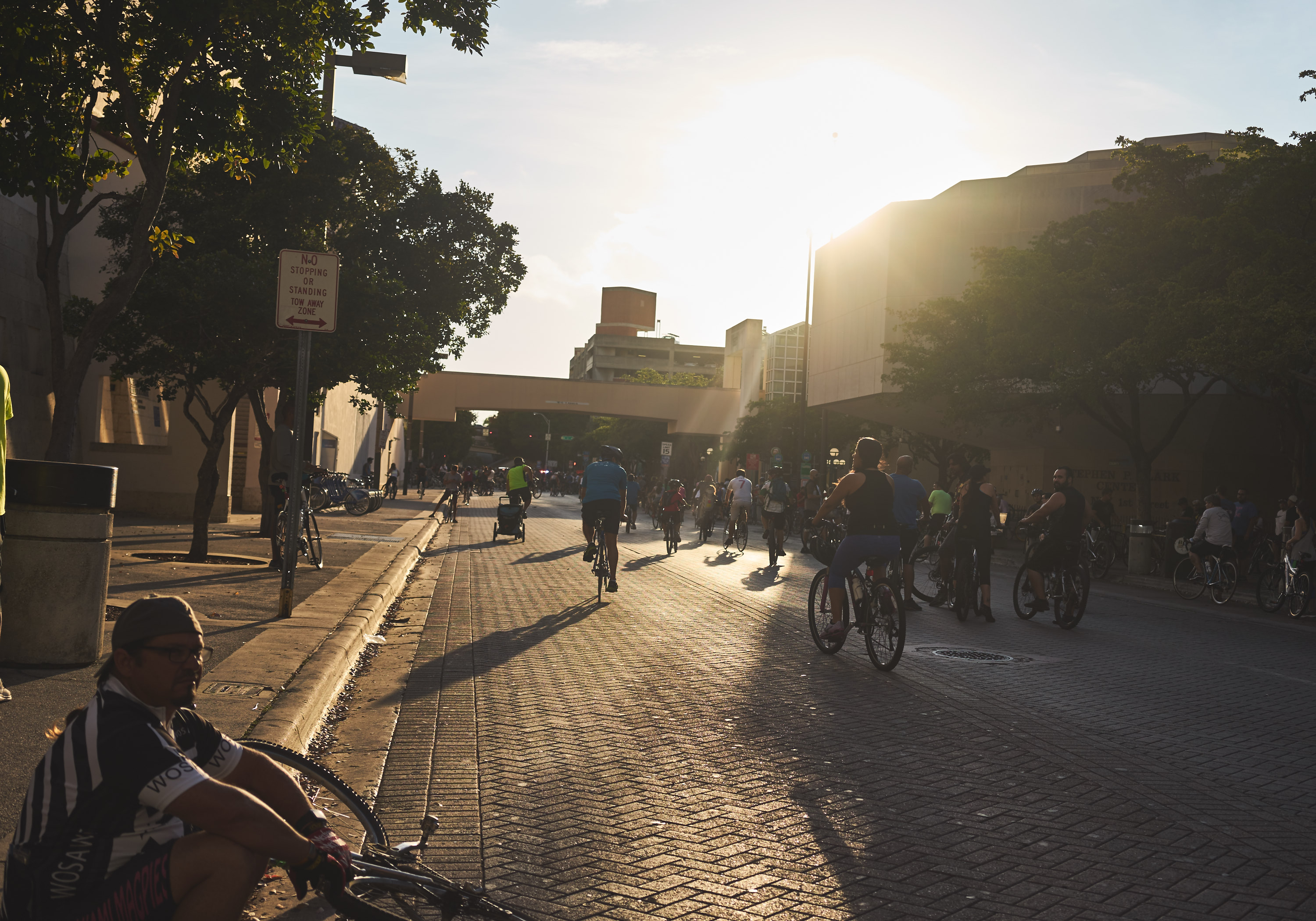 Miami Critical Mass Happening Friday Through Coral Gables_sunset