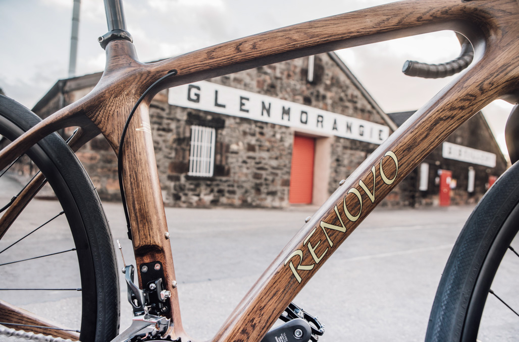 Close up of bike frame at Glenmorangie Distillery (secondary shot)_