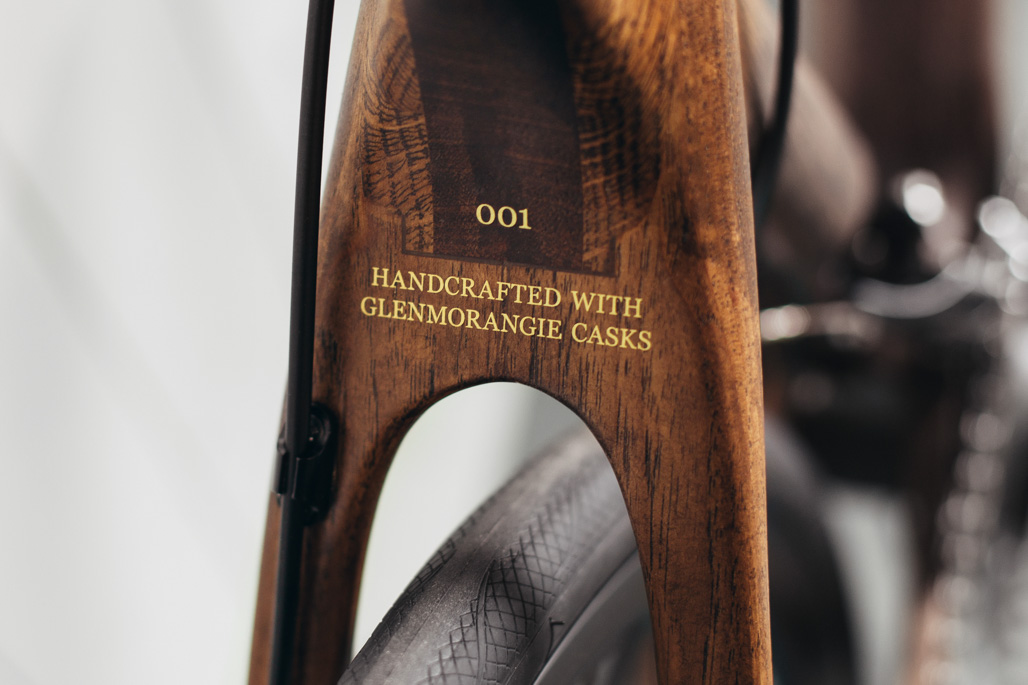 Handcrafted with Glenmorangie casks close up